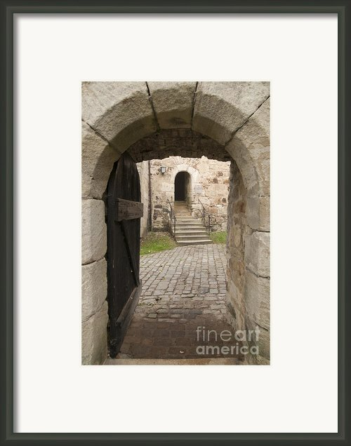 Archway - Entrance To Historic Town Framed Print By Matthias Hauser