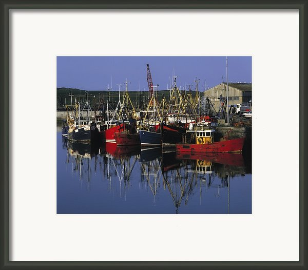 Ardglass, Co Down, Ireland Fishing Framed Print By The Irish Image Collection