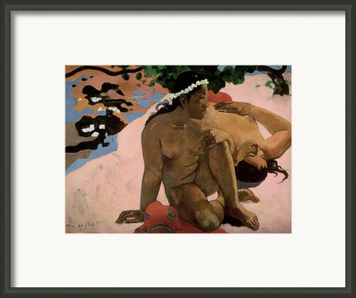 Are You Jealous Framed Print By Paul Gauguin