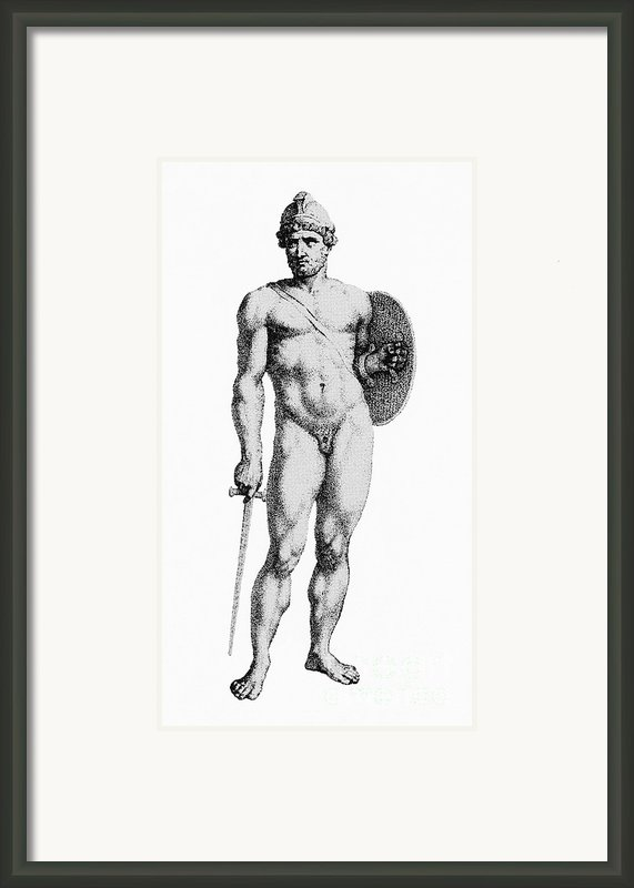 Ares, Greek God Of War Framed Print By Photo Researchers