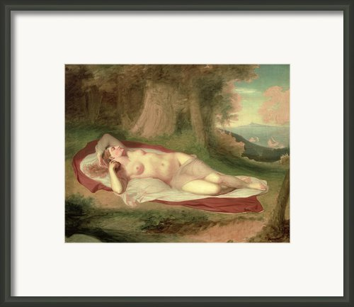 Ariadne Asleep On The Island Of Naxos Framed Print By John Vanderlyn