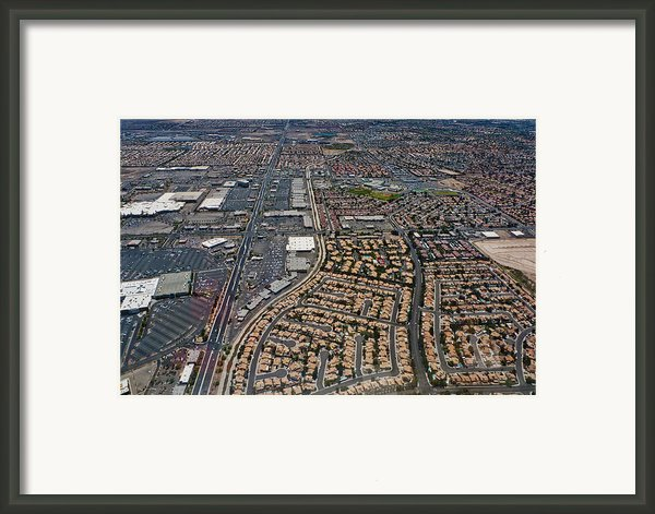 Arial View Of Las Vegas Framed Print By Susan Stone