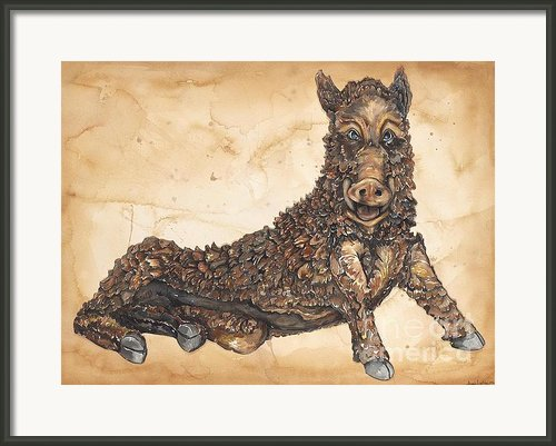 Arkansas Razorback Mascot Framed Print By Annie Laurie