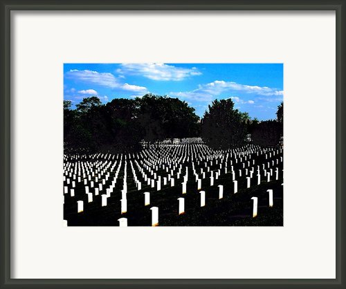 Arlington National Cemetery Framed Print By Valia Bradshaw