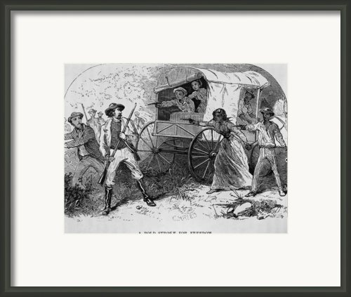 Armed Fugitive Slave Family Defending Framed Print By Everett