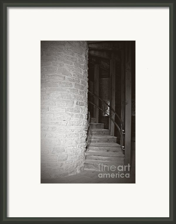 Around The Corner Framed Print By Giliane Mansfeldt