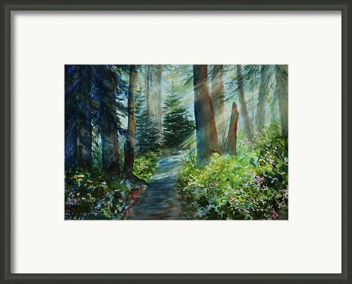 Around The Path Framed Print By Kerri Ligatich