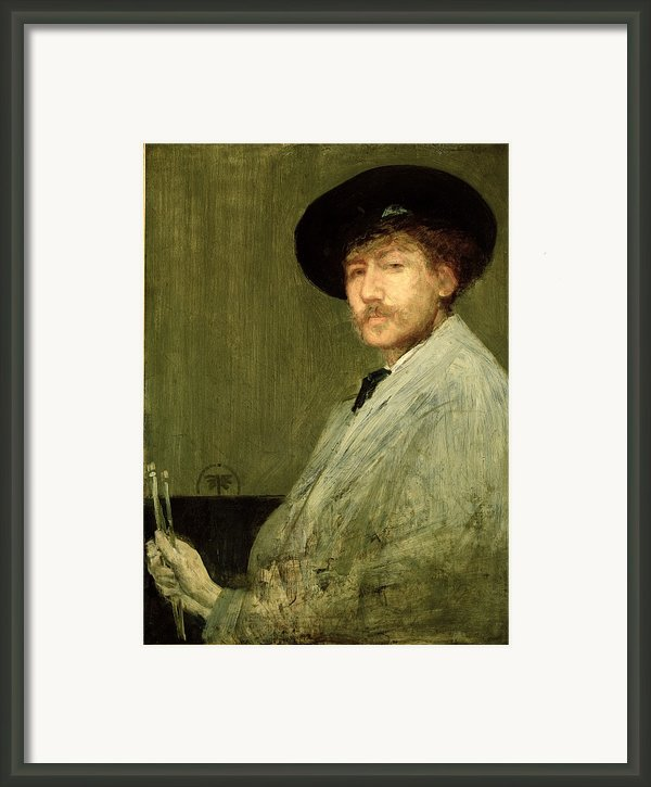Arrangement In Grey - Portrait Of The Painter Framed Print By James Abbott Mcneill Whistler