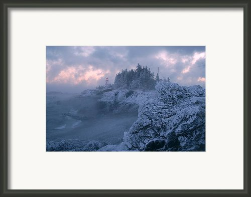 Arrival In The Cold Framed Print By Don Dunbar