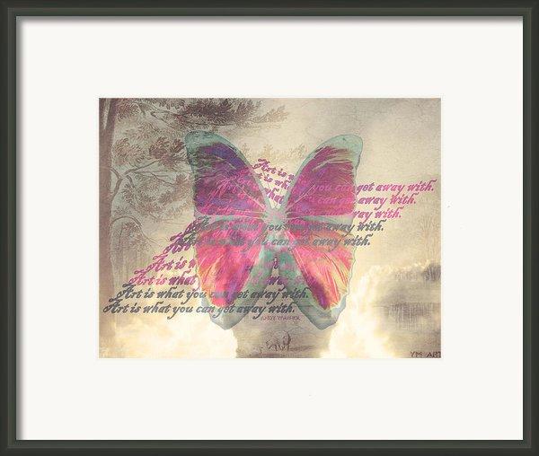 Art Is ..... Framed Print By Yvon Van Der Wijk