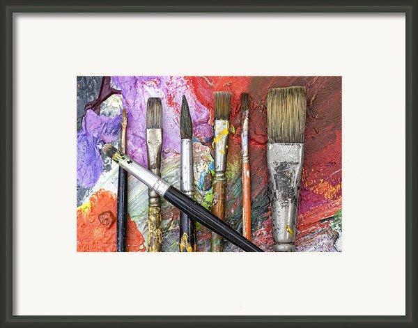 Art Is Messy 6 Framed Print By Carol Leigh
