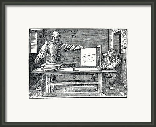 Artist Drawing A Lute Framed Print By Sheila Terry