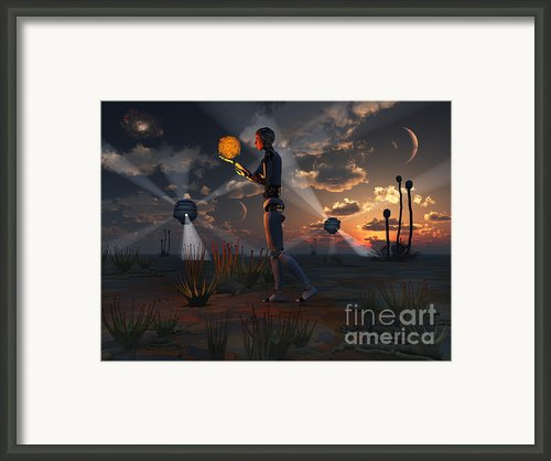 Artists Concept Of A Quest To Find New Framed Print By Mark Stevenson