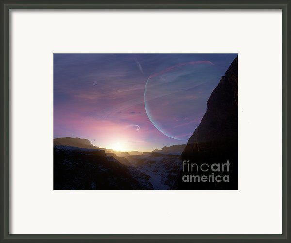 Artists Concept Of A Scene Framed Print By Brian Christensen