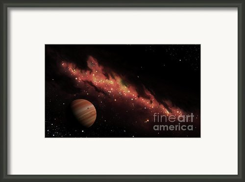 Artists Concept Of An H Ii Region Framed Print By Brian Christensen
