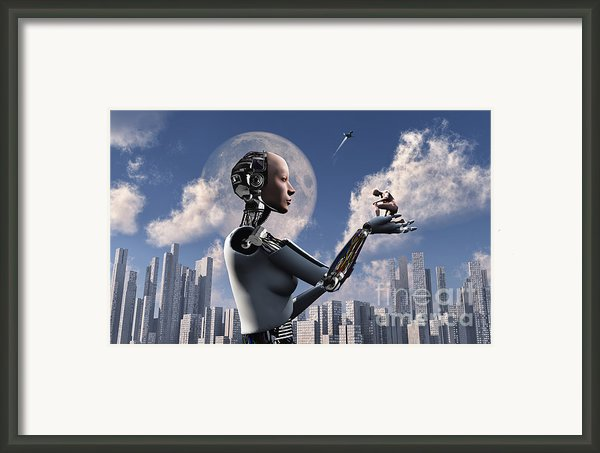 Artists Concept Where Technology Takes Framed Print By Mark Stevenson