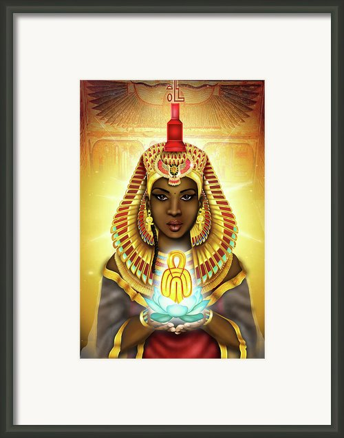 Aset Isis Framed Print By Emhotep Richards