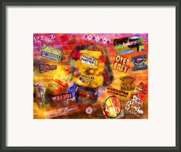 Asheville Eats Framed Print By Marilyn Sholin