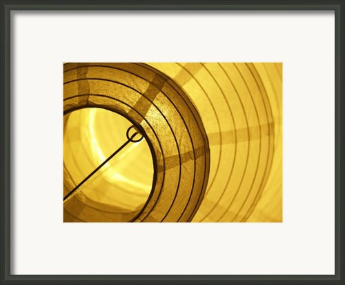 Asian Paper Lantern From Below Framed Print By Anna Lisa Yoder