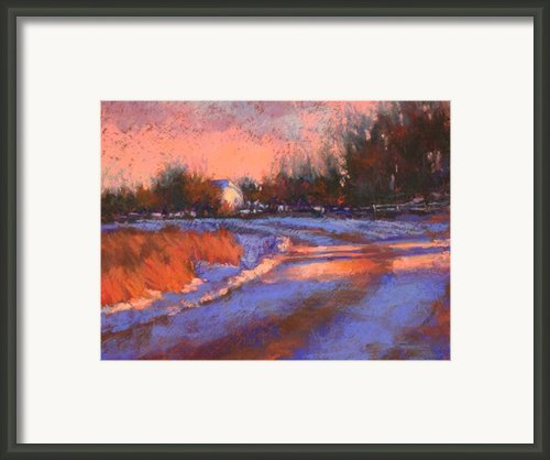 Aspen Road At Sunset Framed Print By Barbara Jaenicke