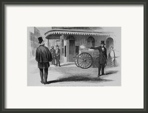 Assassination Of James King, Newspaper Framed Print By Everett