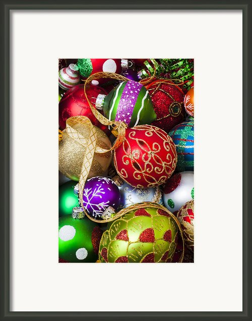 Assorted Beautiful Ornaments Framed Print By Garry Gay