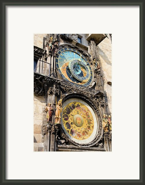 Astronomical Clock In Prague Framed Print By Artur Bogacki