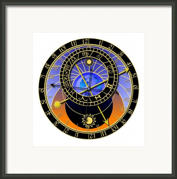 Astronomical Clock Framed Print By Michal Boubin