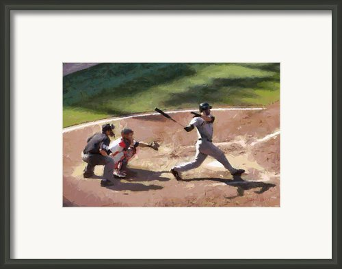 At Bat Framed Print By Lynne Jenkins