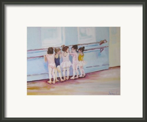 At The Barre Framed Print By Julie Todd-cundiff