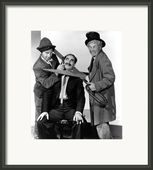 At The Circus, From Left Chico Marx Framed Print By Everett