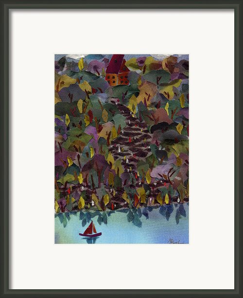 At The Lake Framed Print By Marina Gershman