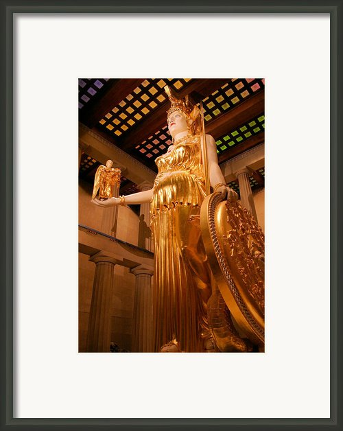 Athena With Nike Framed Print By Kristin Elmquist