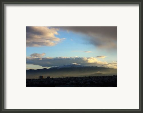 Athens Sunrise Framed Print By Julia Bridget Hayes