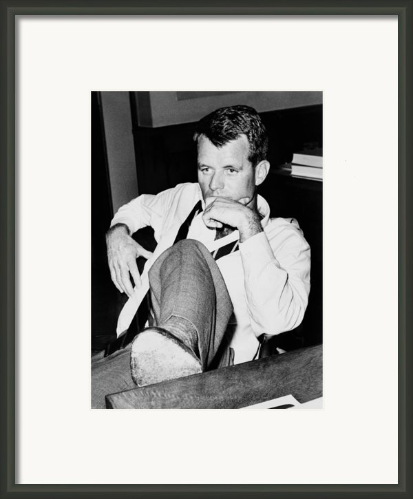 Attorney General Robert F. Kennedy Framed Print By Everett