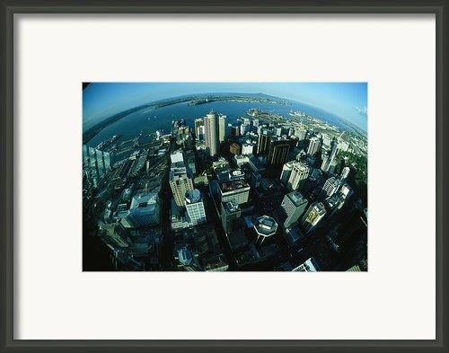 Auckland Skyline As Seen From Sky Tower Framed Print By Todd Gipstein
