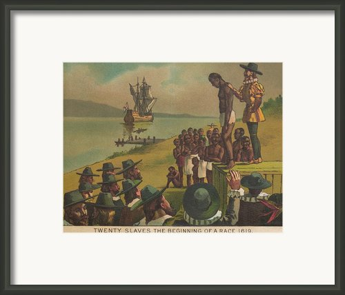 Auctioning Of Newly Arrived African Framed Print By Everett