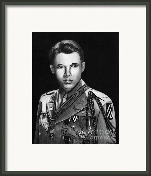 Audie Murphy Framed Print By Peter Piatt