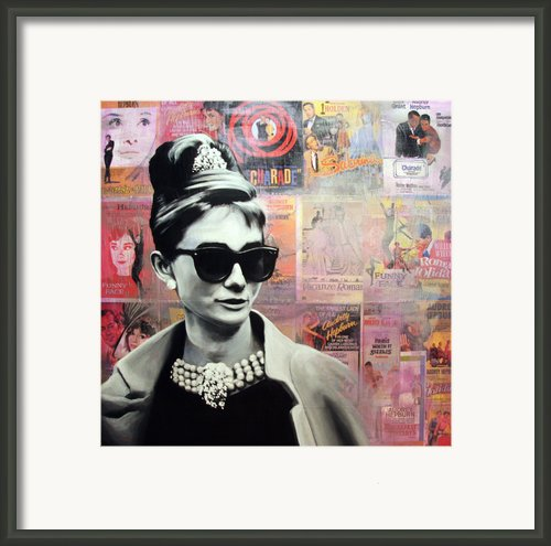 Audrey Hepburn Framed Print By Ryan Jones
