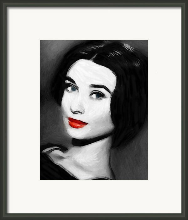Audreys Lips Framed Print By Stefan Kuhn
