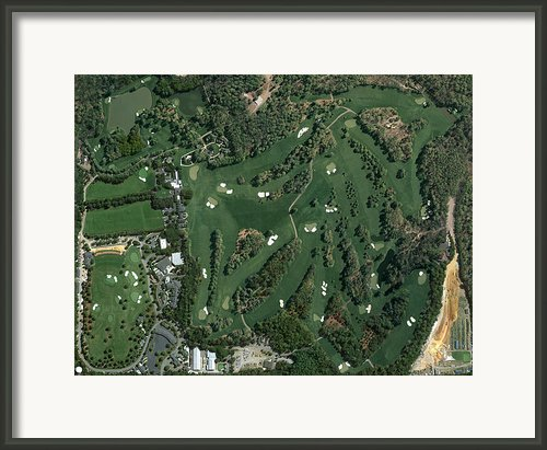Augusta National Aerial Masters Photo H Framed Print By Phil Reich