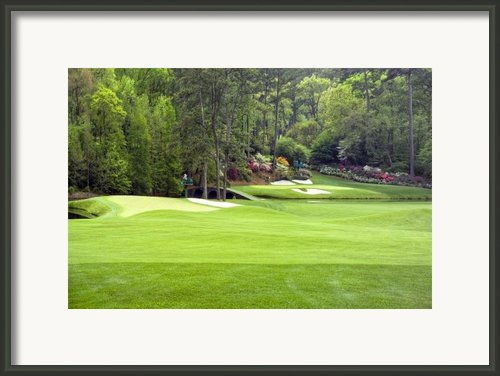 Augusta National Golf Club Amen Corner Framed Print By Phil Reich