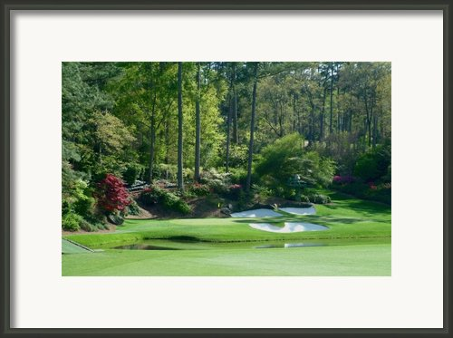 Augusta National Golf Club Hole 12 Golden Bell Framed Print By Phil Reich