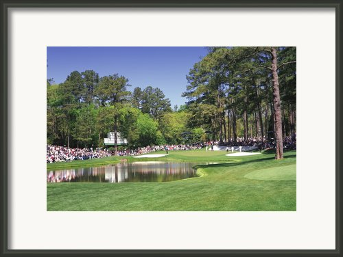 Augusta National Golf Club Hole 16 Redbud Framed Print By Phil Reich