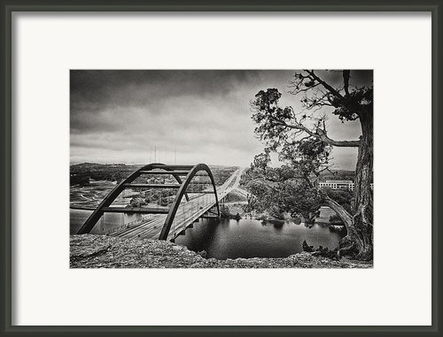 Austin 360 Bridge In Early Dawn Framed Print By Lisa  Spencer