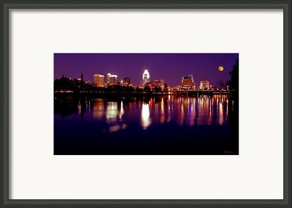 Austin Sky Line In December 2004 Framed Print By Lisa  Spencer