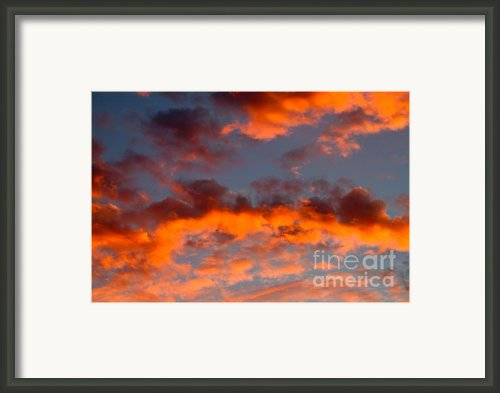 Australian Sunset Framed Print By Louise Heusinkveld