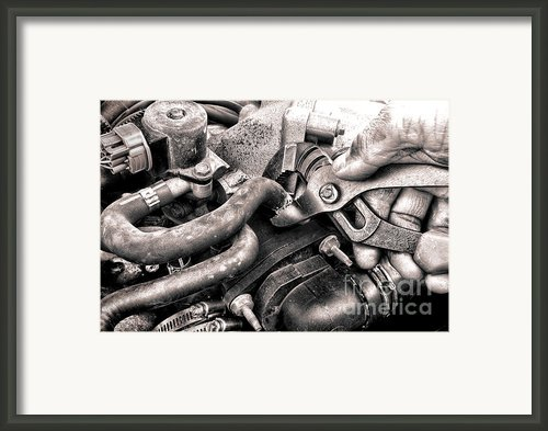 Auto Repair Framed Print By Olivier Le Queinec
