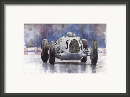 Auto-union Type C 1936 Framed Print By Yuriy  Shevchuk