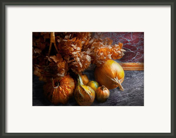 Autumn - Gourd - Still Life With Gourds Framed Print By Mike Savad